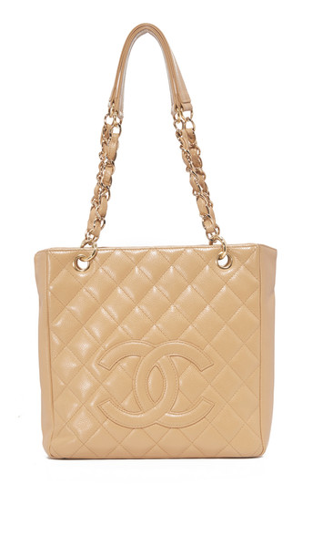 What Goes Around Comes Around Chanel Cc Small Tote (Previously Owned) - Beige