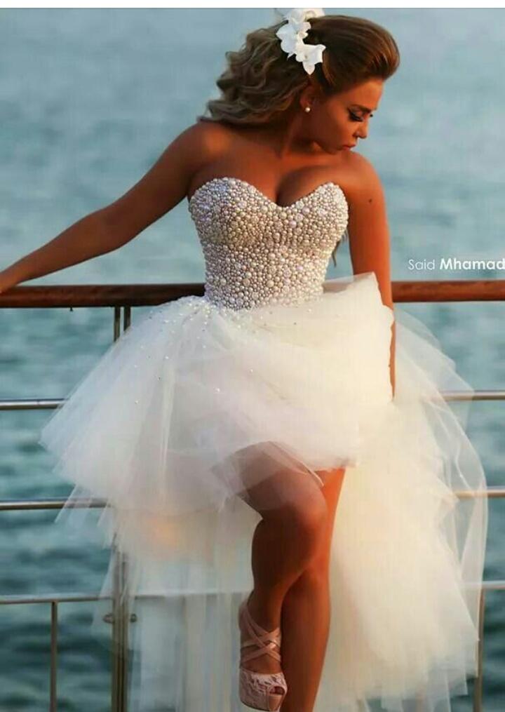 Aliexpress.com : Buy Vestidos De Novia High Low Wedding ...