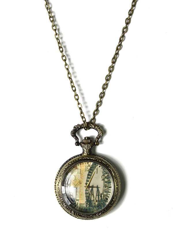 jewels the london eye watch pendant necklace
