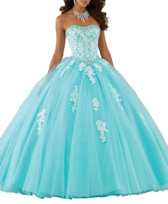 dress clothes quinceanera dress ball gown dress sweet 16 dresses sweetheart evening dresses princess dress blue prom dress