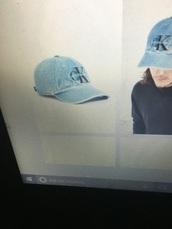 hat,calvin klein,blue,cap