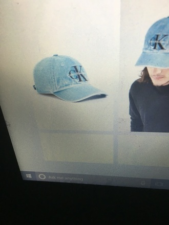 hat calvin klein blue cap
