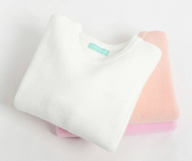 sweater long sleeves pastel sweater pastel cozy