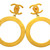 Vintage Chanel earrings CC logo hoop dangle by Chanel | Vintage Five