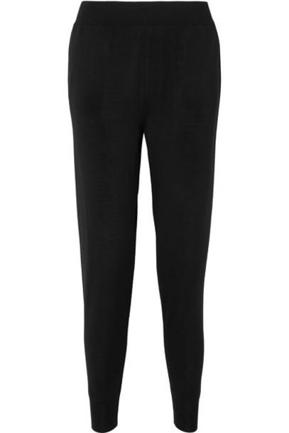 Stella McCartney pants track pants black wool knit