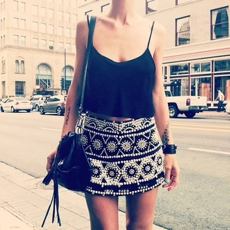shirt black black crop top low cut tank low cut top string straps cute fashion skirt classy