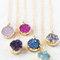 Druzy necklace, purple druzy, silver druzy, black druzy, geode necklace, crystal necklace, healing crystals, sparkle necklace