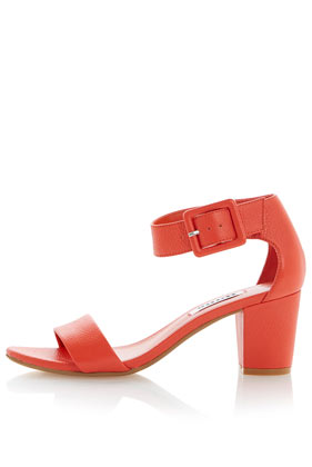 **Fri Buckled Ankle Strap Block Heel Sandals by Dune - Topshop