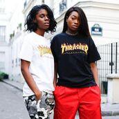 t-shirt,flame,thrasher magazine,thrasher,thrasher shirt,thrasher magazine fire flame t shirt