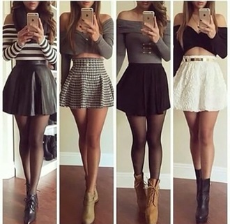 skirt shirt shoes styles