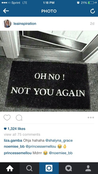 home accessory doormat quote on it funny
