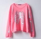 sweater,pastel,pastel sweater,pastel goth,pastel goth sweater,pink