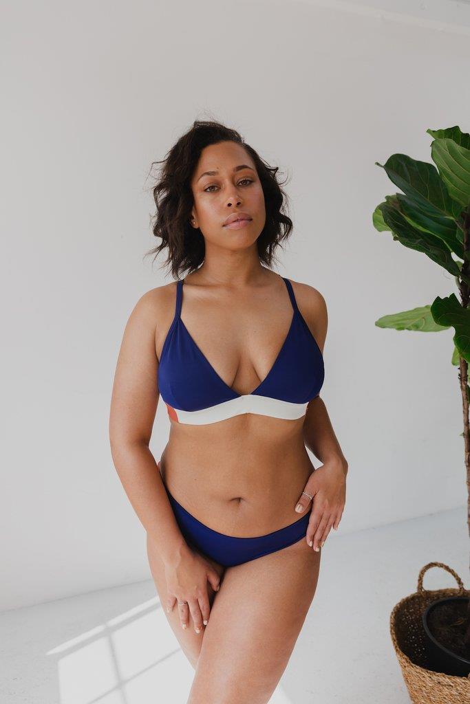 The Nerida Bikini Top - Navy