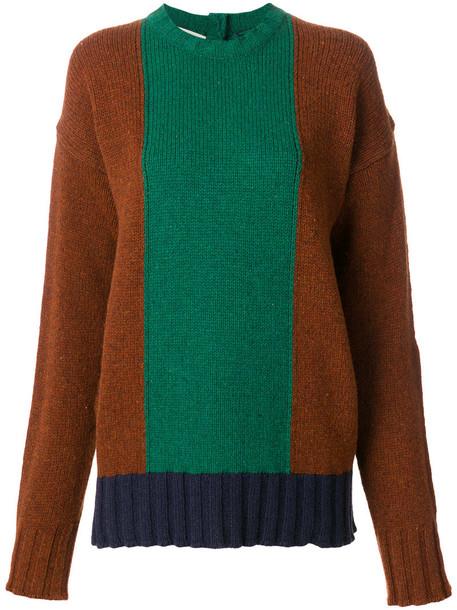 Marni - colour blocked sweater - women - Virgin Wool - 40, Virgin Wool