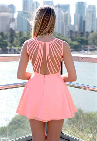 Peach 'In The Moment' Dress | Xenia Boutique | ASOS Marketplace