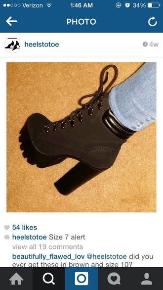 shoes black boot boots boot black lug bootie iggy boots