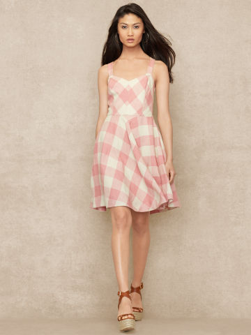 Gingham Linen Dress - Sale   Dresses - RalphLauren.com