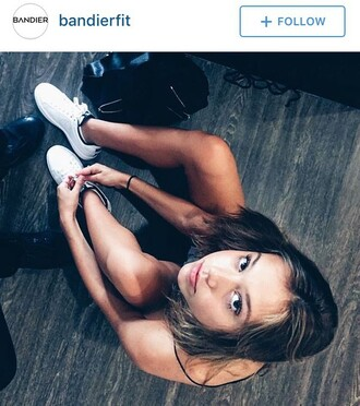 shoes white sneakers nike white sneakers nike sneakers alexis ren model bag black bag