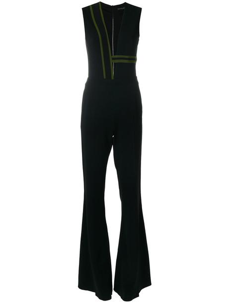 david koma jumpsuit women spandex black