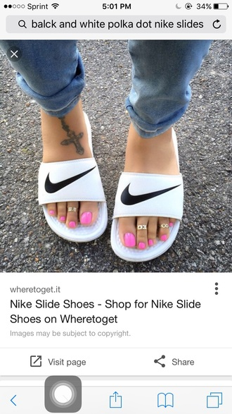 shoes nike nike shoes nike slides black and white white