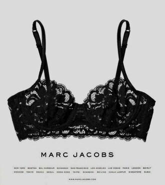 underwear marc jacobs black lace black lace bra bralette hot