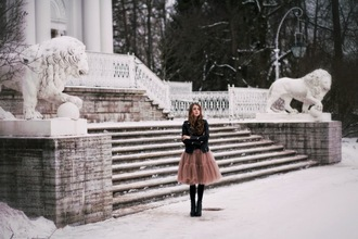 acid coke blogger dusty pink tulle skirt black jacket winter outfits skirt jacket sweater shoes
