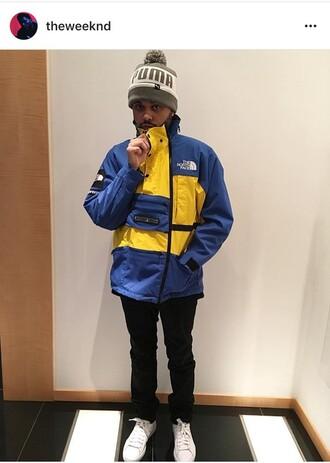jacket north face winter jacket windbreaker the north face windbreaker r blue coat the weeknd the north face jacket winter coat electric blue coat