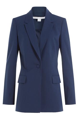 blazer wool blue jacket