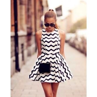 dress black and white dress black and white blouse ruched dress ruched skirt sleeveless dress round neckline prom dress dress cut mini