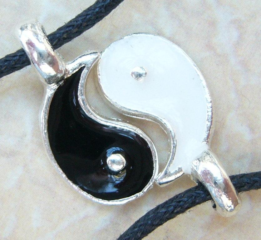 Pair 2 yin ying yang wish bracelet set friendship best friends couples his hers