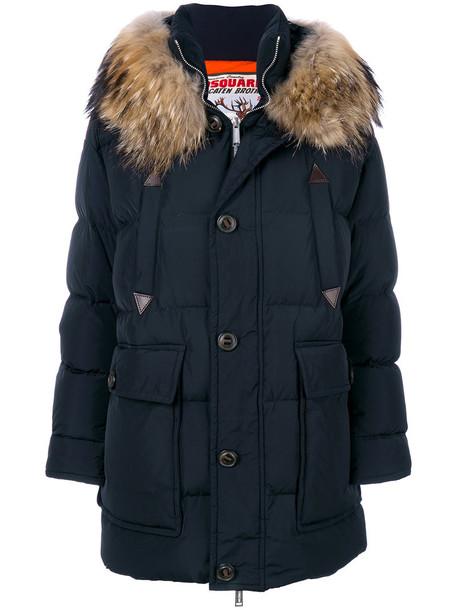 Dsquared2 coat fur women blue