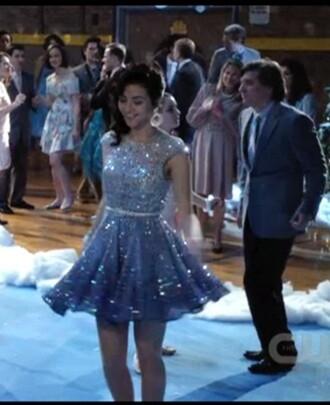 dress prom dress beautiful the carrie diaries sequins purple purple dress short dress skater dress beautiful dresses