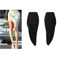 Buy Fashion Clothing -  Woman Irregular Cut High Waist Skirt - Skirts - Bottoms
