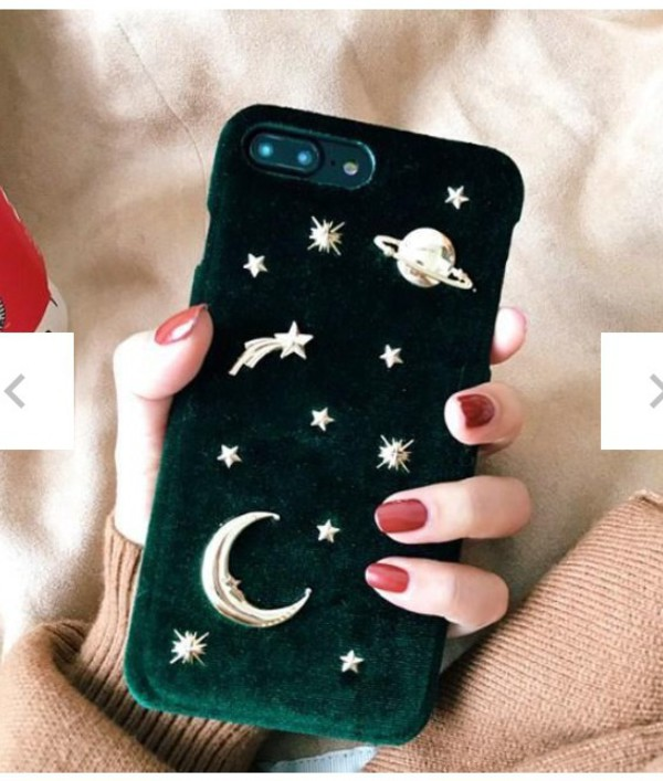 phone cover girly iphone cover iphone case iphone velvet stars galaxy print