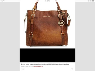 bag brown michael kors tote