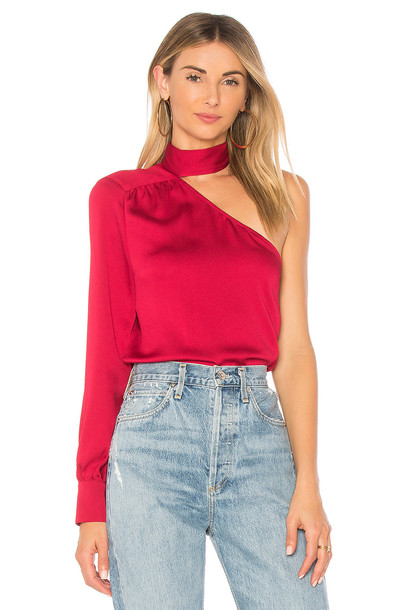1. STATE blouse red top