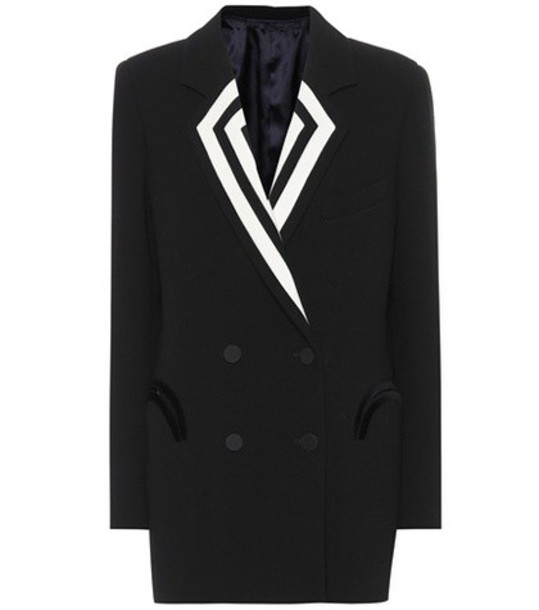 Blazé Milano Double-breasted wool blazer in black