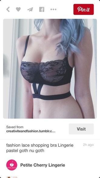 top lace bra bralette bra strappy bra strappy black top crop tops black crop top bustier grunge goth sexy lingerie