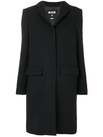 coat women classic black wool