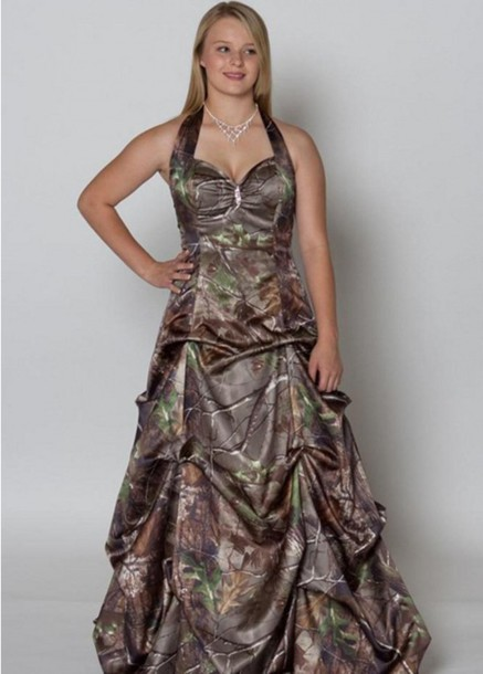 dress camouflage bridal gown