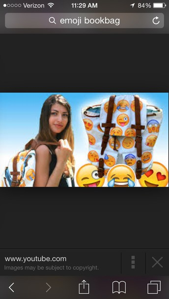 bag emoji print iphone youtube face nails faces music sack bookbag backpack