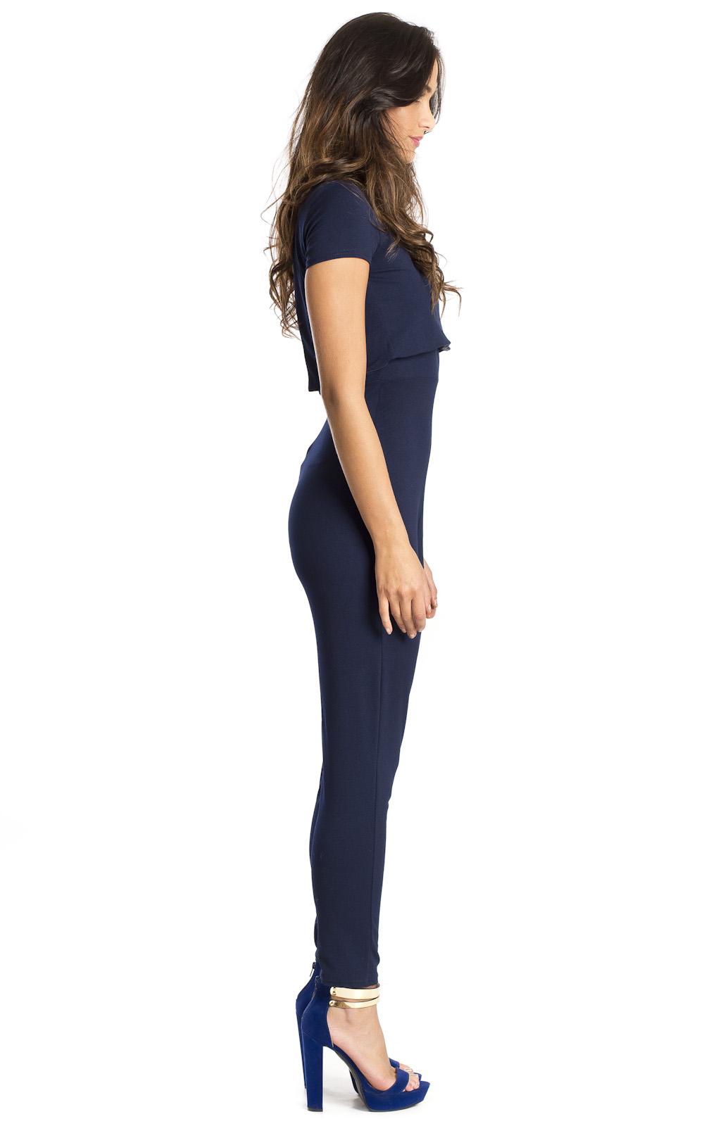 Mariella navy jumpsuit at http://www.ikrush.com