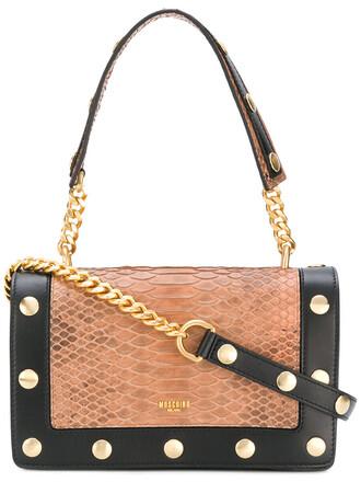 studded metal women bag shoulder bag leather black