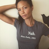 shirt,black,quote on it,Nah. Rosa Parks 1955,grey,statement tees,grey t-shirt