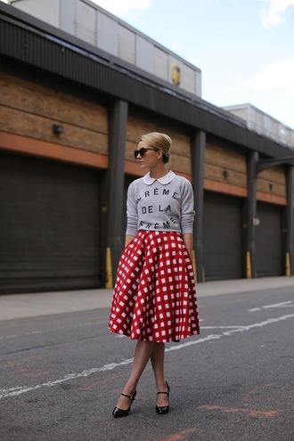 atlantic pacific skirt sweater shoes t-shirt sunglasses jewels