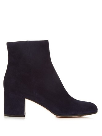 heel suede ankle boots boots ankle boots suede navy shoes