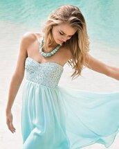 dress,prom dress,pastel blue dress,light blue,floral,jewels,blue dress,baby blue
