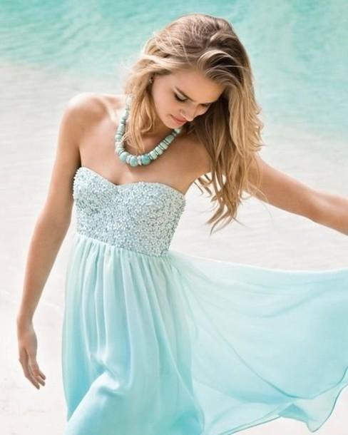 dress prom dress pastel blue dress light blue floral jewels blue dress baby blue