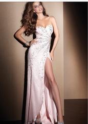 dress,sparkes,grad,formaldrsse,formal,party dress,pink,formalfr,formwldress,sexy formal dress,sexy dress,diamonds,evening dress,prom gowns,white dress,sparkly dress,prom dress,long dress,formal dress,sequin dress,open leg