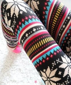 Amazon.com: ECOSCO Women Multicolored Snow Snowflake Christmas Pattern Ankle Length Footless Pantyhose Legging thick Tight Pant One Size: Arts, Crafts & Sewing on Wanelo